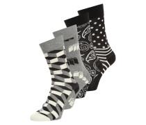 4 PACK Socken black