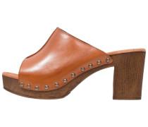 EVA - Pantolette hoch - cognac