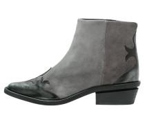 Cowboy-/ Bikerstiefelette - grey/black metallic