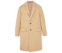PRESSE Wollmantel / klassischer Mantel medium brown