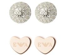 2 PACK - Ohrringe - silver-coloured/roségold-coloured