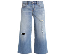 Flared Jeans - bleached denim