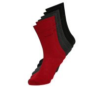 6 PACK Socken rio red/anthracite melange/black