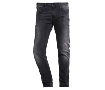 LUKE Jeans Straight Leg black rip