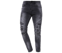 Jeans Tapered Fit - vintage distressed black