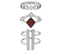 3 PACK Ring silvercoloured