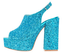 DARLENE - Plateausandalette - blue glitter