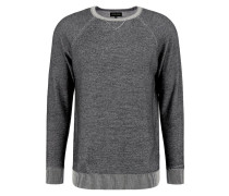 Strickpullover black/mottled light grey