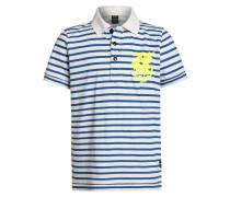 Poloshirt white/blue