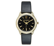 OPTIK Uhr schwarz