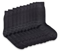10 PACK Socken black