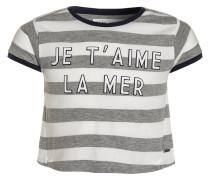 JE T´AIME TShirt print grey/white