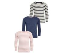 3 PACK Langarmshirt pink