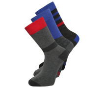 3 PACK Socken grey/blue/red