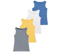 4 PACK Unterhemd / Shirt blue