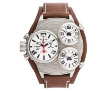 TRIPLO Chronograph silver/brown