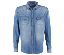 REGULAR FIT Hemd blue denim