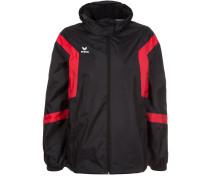 CLASSIC TEAM Regenjacke / wasserabweisende Jacke schwarz/rot