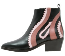 CASCATE TEXANO Ankle Boot nero/rosa
