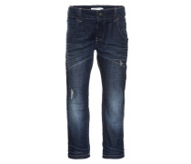 NITTIMMI Jeans Straight Leg dark blue denim