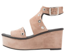 WIZZ STUDDED - Plateausandalette - taupe/beige