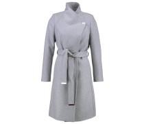AURORE Wollmantel / klassischer Mantel greymarl