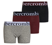 3 PACK Panties navy/grey/burgundy
