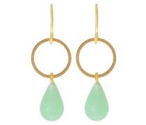 Ohrringe - gold-coloured/jade