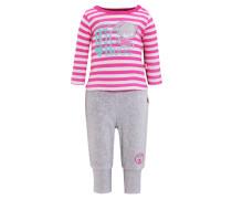 SET Langarmshirt pink