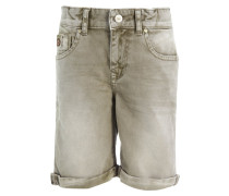 ANDERS - Jeans Shorts - dry moss/undamaged wash