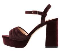 High Heel Sandaletten burdeos