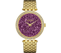 CRYSTALS - Uhr - goldfarben/violett
