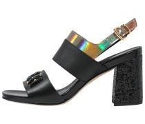 High Heel Sandaletten nero/acciao