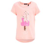 T-Shirt print - corail clair