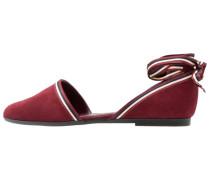 Riemchenballerina - dark red