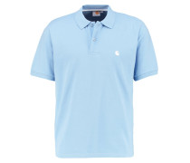 CHASE LOOSE FIT - Poloshirt - glacier/white