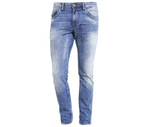AEDAN Jeans Slim Fit heavy bleached blue denim