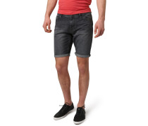 ATWOOD - Jeans Shorts - black stone wash denim