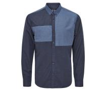 Hemd medium blue melange