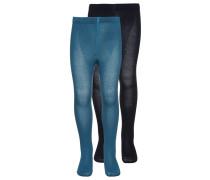 2 PACK Strumpfhose petrol/dark blue