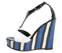 High Heel Sandaletten blue/white/black