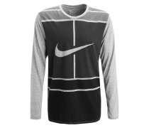 PRACTICE COURT Langarmshirt dark grey heather/anthracite