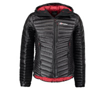 Daunenjacke jet black/red dahlia