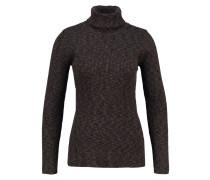 Strickpullover - khaki/black