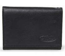 CREW/LEATHER Geldbörse black ink leather