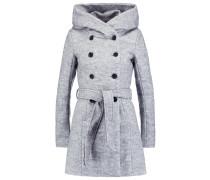 Wollmantel / klassischer Mantel light grey melange