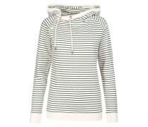 AVA Sweatshirt off whitedark green