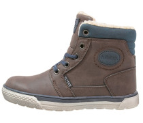 Sneaker high dark brown/dark blue
