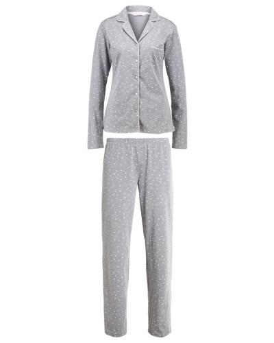 hunkem ller damen pyjama grey reduziert. Black Bedroom Furniture Sets. Home Design Ideas