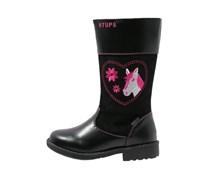 Stiefel black/pink